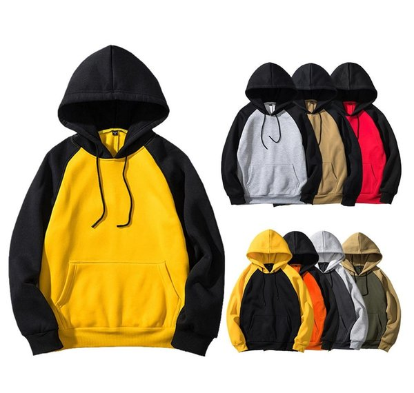 Menshoodies-Fleece-Sweatshirt Fleece Cotton Unisex Hoodies Sweatshirts paar Hip Hop Pullover Pullover EU-GRÖSSE WY39