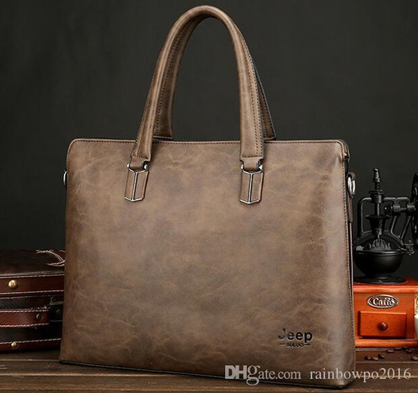 outlet brand male bag simple large capacity leather computer bag fashionable high-quality leather business handbag mens leather briefcase