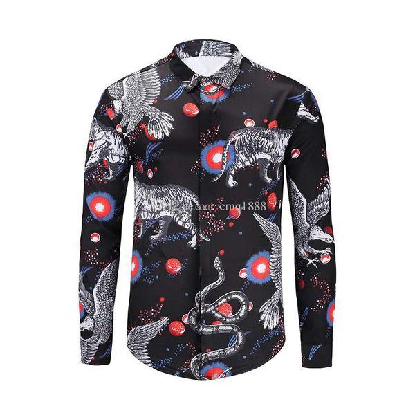 2019 Wholesale cheap autumn and winter men's long-sleeved Dress shirt pure men's casual POLO shirt Oxford shirt social brand cloth