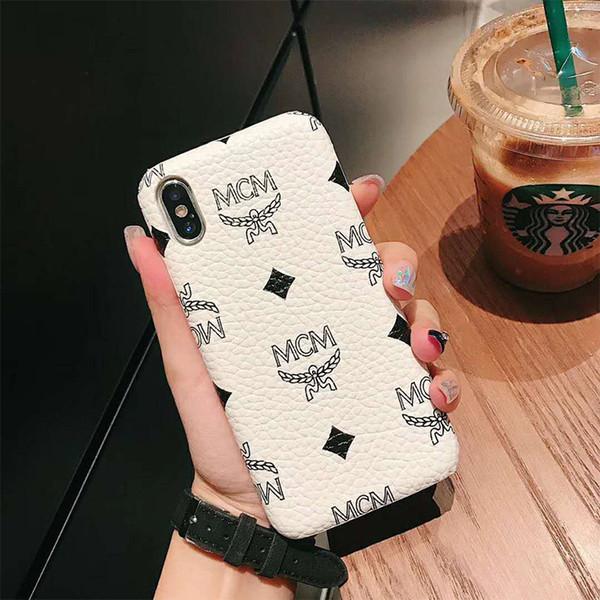 One Piece Hot vendas telefone casos modelos de moda de luxo telefone PU tampa traseira Designer para iPhone X 8 P XR XS