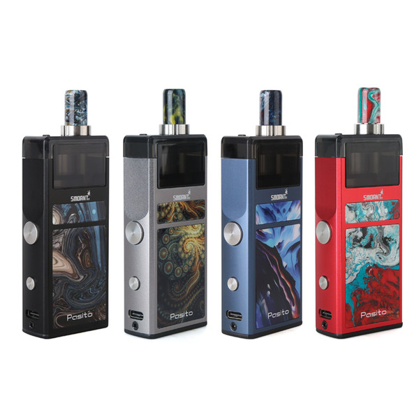 Authentische Pasito Kit Smoant 25W Vape Pod Kits Eingebaute 1100mAh Batterie 3ml Patronenhülsen 4 Farben Einstellbar 5 Wattstufen dhl