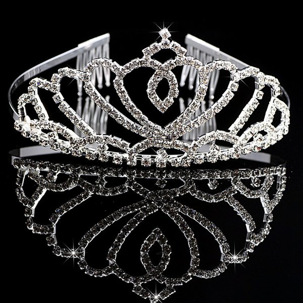 Girl's Tiaras Wtih Rhinestones Crystals Hair Accessories Evening Prom Party Performance Pageant Tiaras and Crowns For Girls DB-T007