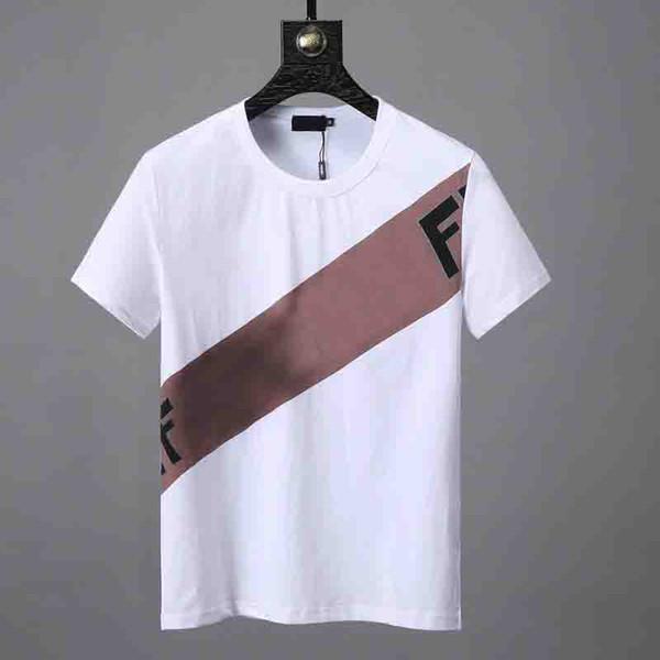 5b450d7ba Fashion mens designer tshirts luxury brand F Letter printing couple short t-shirt  Summer Street wear Europe High Quality Diagonal stripes