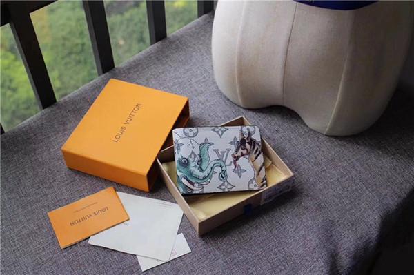Bolsas de grife carteira de embreagem bolsas bolsas mulheres carteiras dos homens carteira titular do cartão da bolsa do desenhador de couro genuíno com caixa 451273