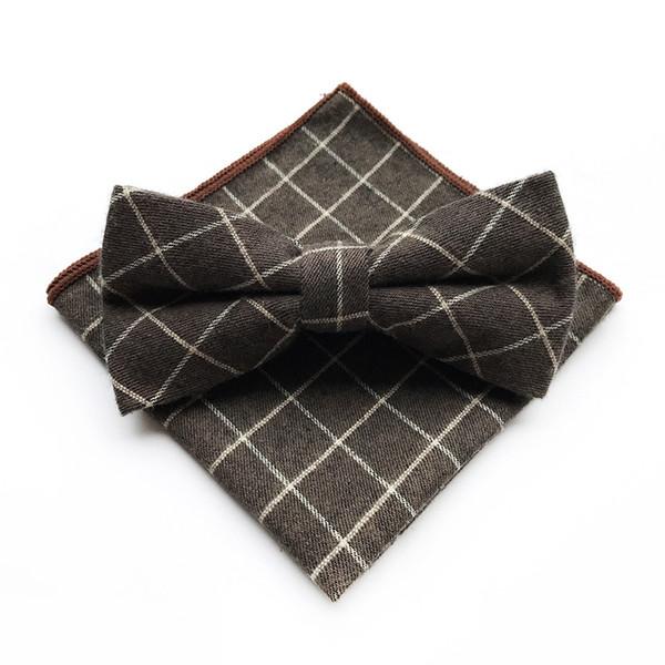 Marke Baumwolle Paisley Fliege und Einstecktücher Set für Hochzeit Männer lila Navy schwarz gestreiften Paisley Taschentuch Bowtie Sets