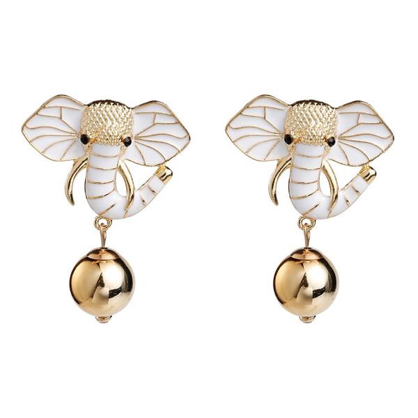Find Me 2019 neue Mode Luxus Boho geometrischen Elefanten baumeln Ohrringe Vintage Tropfen Öl Tier Tropfen Ohrring für Frauen Schmuck