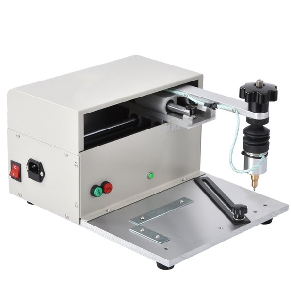 top popular Small Table Type USB Electric Marking Machine Metal Stainless Steel Signage Nameplate Marking Machine 110V 220V 200W (170*110mm) 2020