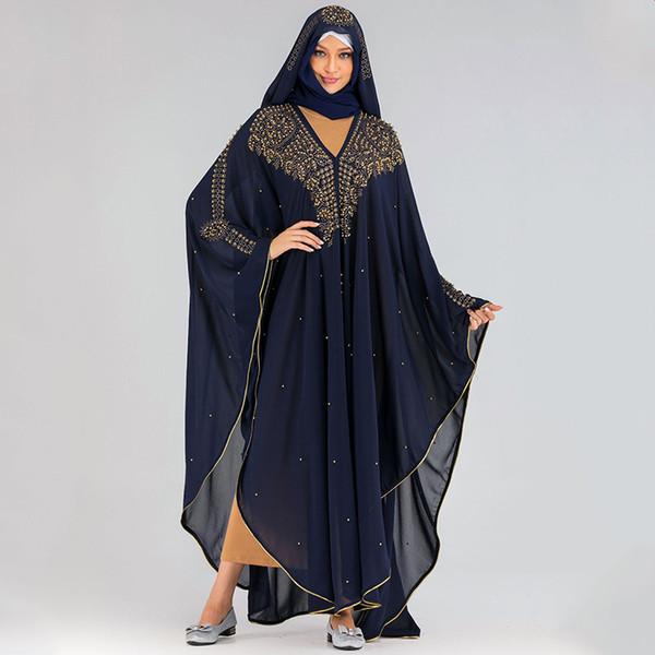 Bleu marine Abaya Taille