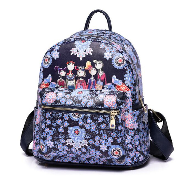 2017 new women's bag south Korean version of the fashion single-shoulder cross backpack personality backpack snowflake series of women's bag