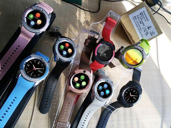 Akıllı İzle Spor Kamera Ile Smartwatch Bluetooth 3.0 Destek SIM Android Için Akıllı Telefon Için TF Kart Çift Izle