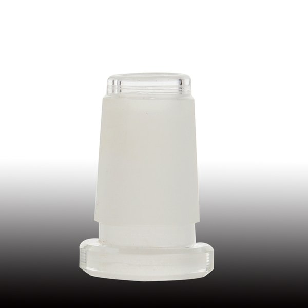 18mm Macho para 14mm Feminino Redutor de Vidro Adaptador de Baixo Perfil 14to10 Conector de Vidro Borosilicato Fosco Difusor de Fenda de Downstem