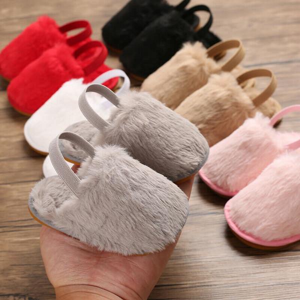 Güzel Yürüyor Çocuk Bebek Kız Beşik Ayakkabı Pom Pom Sandalet Rahat Ayakkabılar
