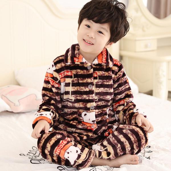 Комплект коричневой пижамы