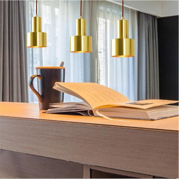 small copper pendant lamp art design hanging light for kitchen asile hallway suspension lamp metal antique single head fixtures