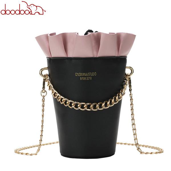 Round Bucket bag 2019 New Fashion Women's Designer Handbag Quality PU Leather Women bag Cute Chain Tote Shoulder Crossbody Bags
