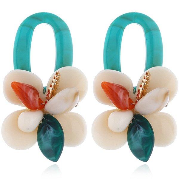 New Shell Coral Multicouche Boucles D'oreilles Vintage Oreille Exagérée Drop Mode Féminine Bohème Big Dangle Mode Femmes Bijoux 10 paires / lot