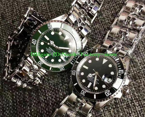 2 Color Best Factory Version Luxury Watch SA2813 ETA 2813 Movement 40mm Ceramic 116610 Automatic Mens Watch Watches original box