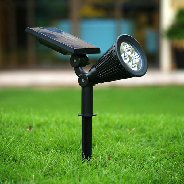 다기능 조명에 태양 스포트 라이트 잔디 홍수 빛 야외 방수 가든 4 LED 벽 램프 플러그