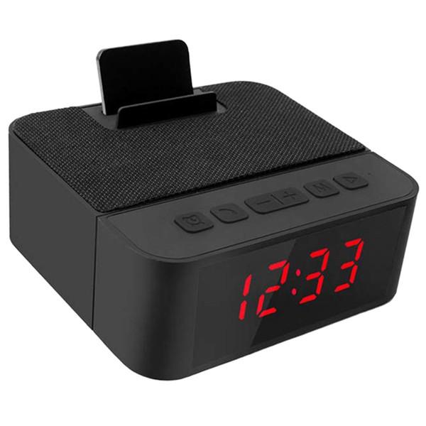 TOP! -Digital Rádio Relógio Despertador All-In-One Design Com Alto-Falante Sem Fio, Am / Rádio Fm, Usb Porto De Carregamento, Snooze, Ac E Bateria Ope