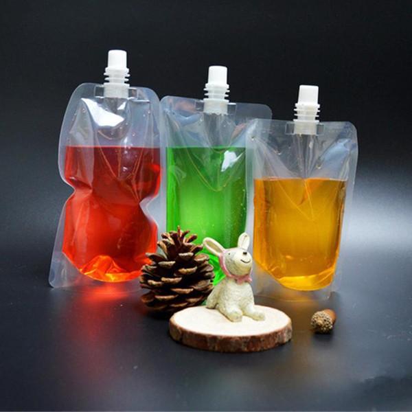 Stand-Up Plastic Drinkware Verpackungsbeutel Ausgusstasche für Saft-Milch-Kaffee Getränkeflüssigkeits-Verpackungsbeutel Getränkebeutel T1i261