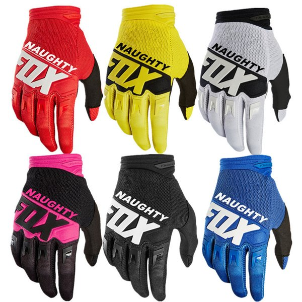 top popular 7colors Cycling Motorcycle Racing Gloves Autumn Winter Full Finger Mountain Bike Warm MTB Road Bike Bicycle Anti-slip Riding Cycling Gloves 2019