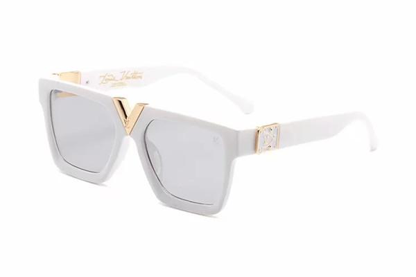 Luxury MILLIONAIRE Sunglasses for men full frame Vintage designer 1165 sunglasses for women's Shiny Gold Logo Fashion Louis gift