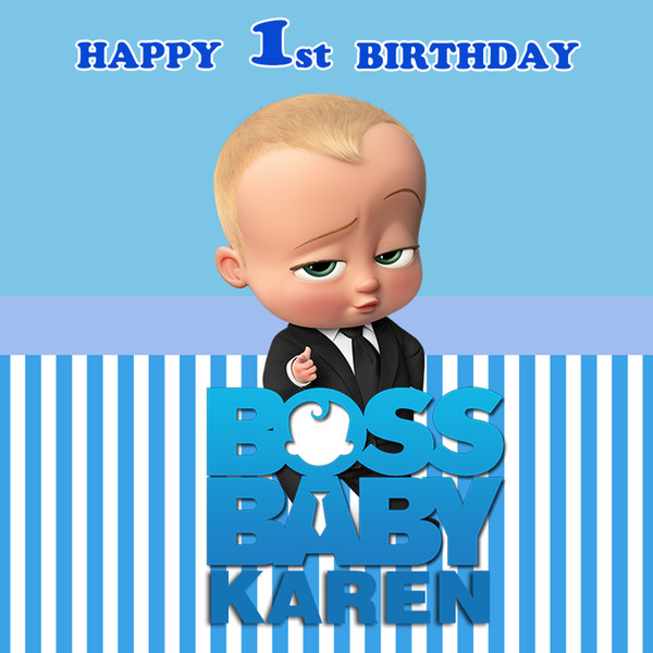 2019 Sensfun Boss Baby Shower 1st Birthday Party Backdrop For Boys White And Blue Striped Theme Backgrounds For Photo Studio From Qygwphoto 2689