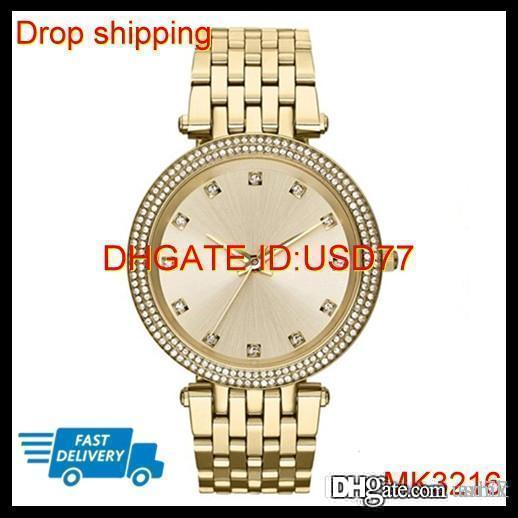 100% ORIGINAL JAPAN MOVEMENT DROP SHIPPING MK3216 MK3217 Women's 39mm Gold And Rose Gold Plated Case Designer