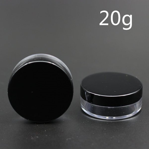 20g Cosmetic Empty Jar Pot Eyeshadow Makeup Face Cream Lip Balm Container Bottle Cosmetic Bottle Packaging transparent