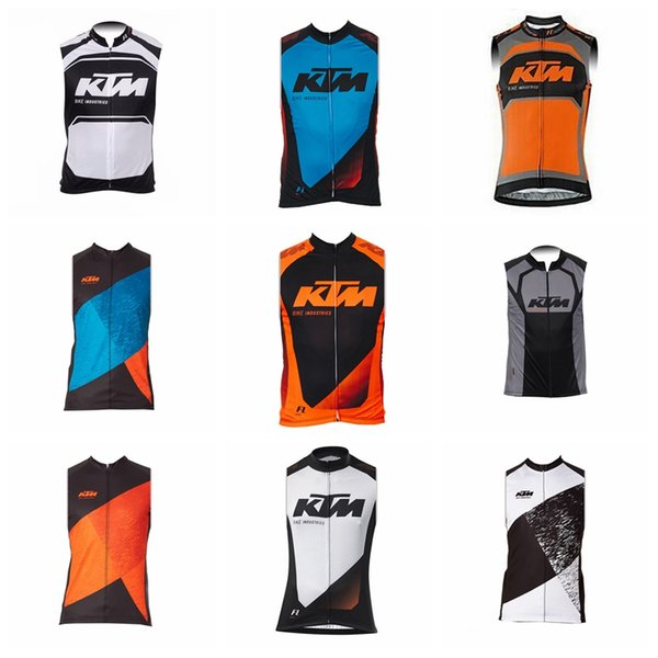 Top brand-KTM team Cycling Sleeveless jersey Vest tops shirts Comfortable Road mountain bike summer mens Y61808