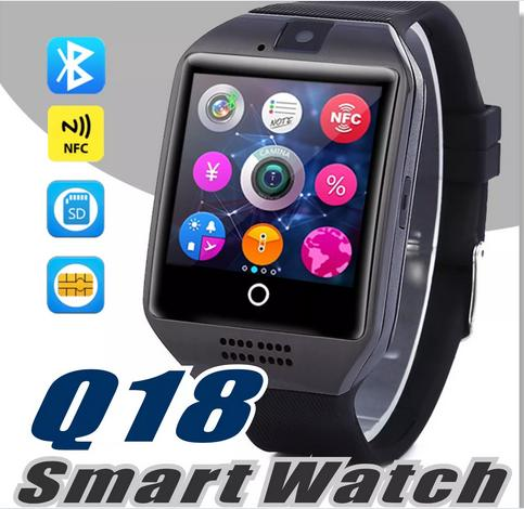 best selling Q18 smart watch watches bluetooth smartwatch Wristwatch with Camera TF SIM Card Slot   Pedometer   Anti-lost   for apple android Smart watch