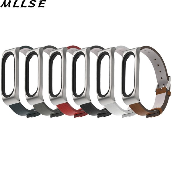 MLLSE 1PC PU Leather Replacement Wrist Strap Bracelet for Xiaomi Mi Band 3 Smart Watch Accessories Wristband