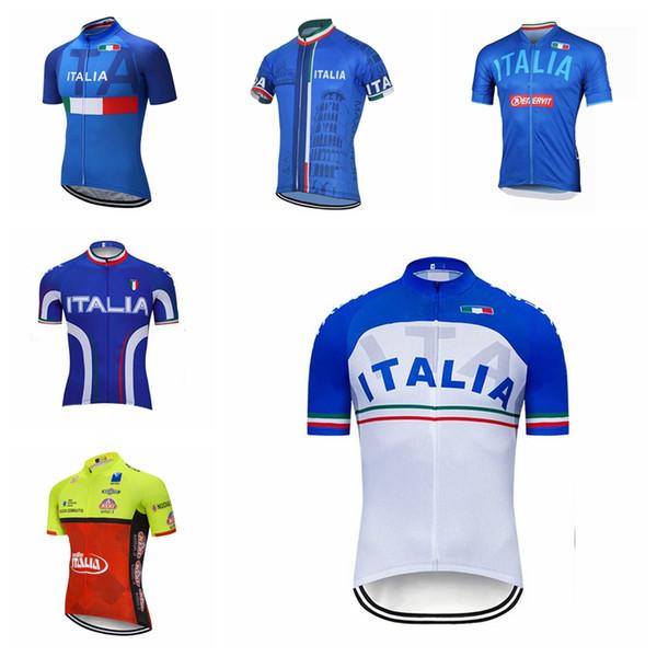 ITALIE équipe été cyclisme manches courtes jupes en tête Vêtements cyclisme route porter des vêtements de sportwear Q73118