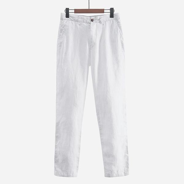 5cb8520d643 Japanese style simple men s linen casual pants loose breathable straight  100% linen pants men spring fashion trousers broek