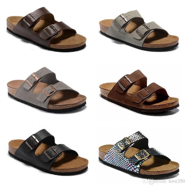 2019 Arizona Gizeh FlipFlops caliente verano Hombres Mujeres sandalias planas Zapatillas de corcho unisex zapatos casuales imprimir 805