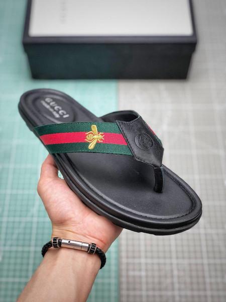 Marca caliente zapatos zapatillas sandalias de calidad de diseño Diapositivas tirónGucci flop chicos chicas holgazanes Huaraches las zapatillas de deporte