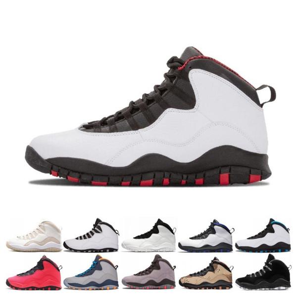Vente chaude 10 10s Cement hommes chaussures de basketball Chicago Bobcats Steel Cool Grey je suis de retour Westbrook formateurs hommes chaussures de sport baskets