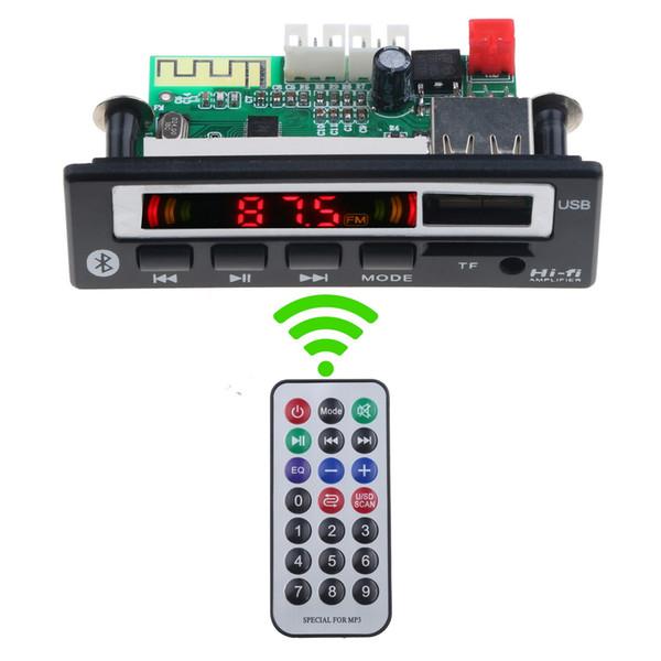 Auto 12v / 5v Bluetooth decodificatore Consiglio dell'altoparlante FM audio con telecomando per MP3 WMA WVA di musica dell'altoparlante della carta di TF del U-Disc Auto Decoder