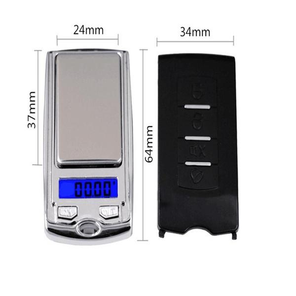 Mini balance électronique haute précision 0.01G Bardian clé de voiture balances modèle de paume miniature portable populaire en 2019 17hx J1