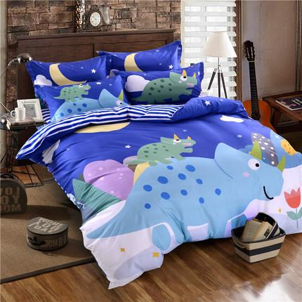 2019 Cute boy girl children kids bedding sets with 8 pieces pure cotton quilt pillow bed covers high quality for child