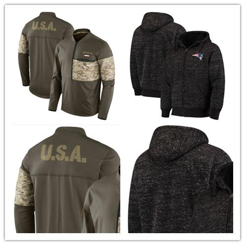 release date: c949a 4fb14 2019 New Patriots Jersey Salute To Service Sideline Hybrid Half Zip  Pullover Jacket Football Hoodie From Double_angel, $35.54 | DHgate.Com