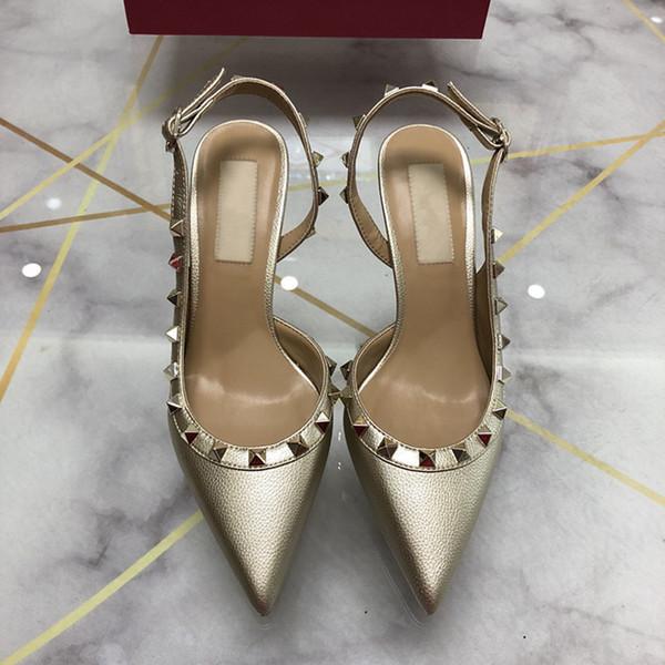 2019 марка женщины туфли на высоком каблуке свадебные туфли женщина босоножки сандалии мода заклепки обувь сексуальные туфли на высоких каблуках свадебные туфли размер 34-43