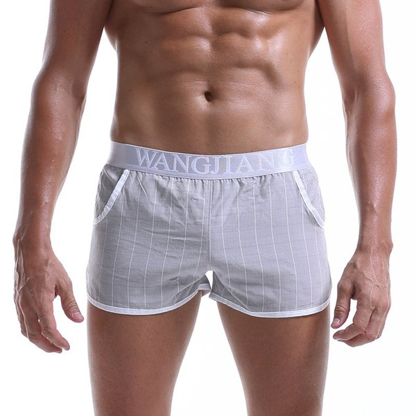 Casual Cotton Sleep Brand Plaid High Quality Boxers Shorts Underwear Comfortable Loose Pouch Mens Underpants Homewear Panties