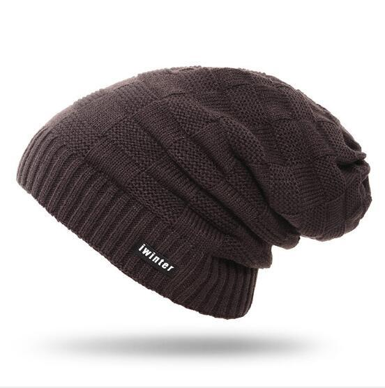 Christmas winter cap wool unisex bonnet skullies beanies solid color knitted hats casual comfortable sports hats