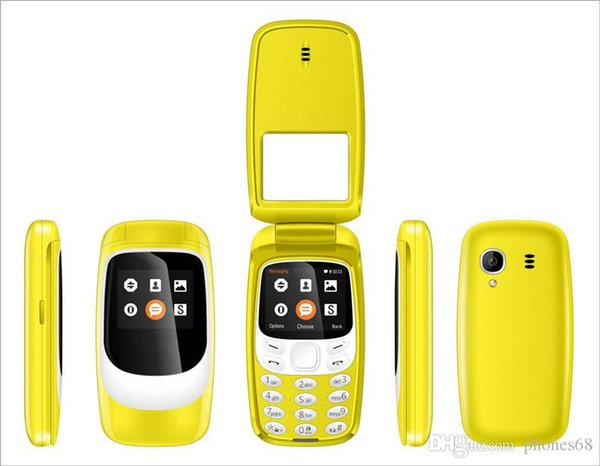 Goophone 3310 cell phones Flip phones Dual SIM 1.77inch 32+32MBT/512mb+1gb internal open FM radio MP3 MMS with box