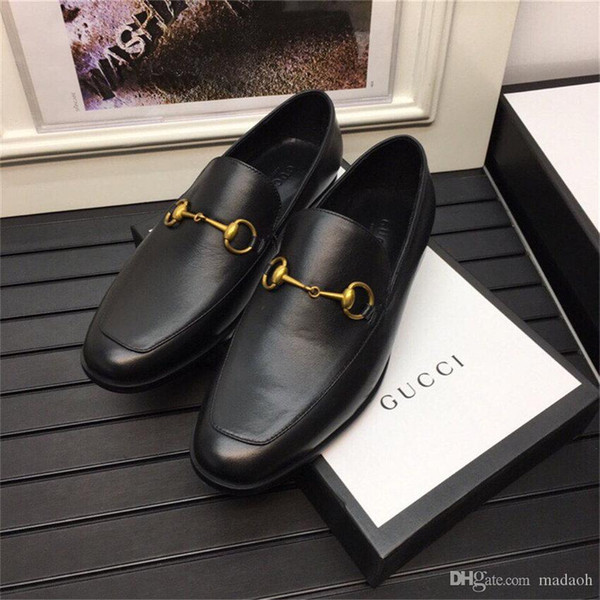 20WN 2020 Casual MEN's spring and autumn new leather top soft noodle bean Inverness lazy men's shoes YETC8