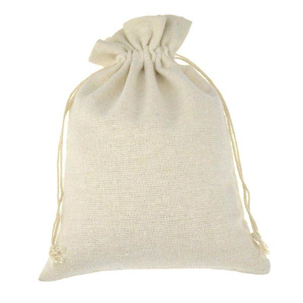 Muselina de algodón con cordón de embalaje hecho a mano bolsas de regalo para el grano de café joyería de la boda favores de la bolsa de almacenamiento rústica popular de la Navidad