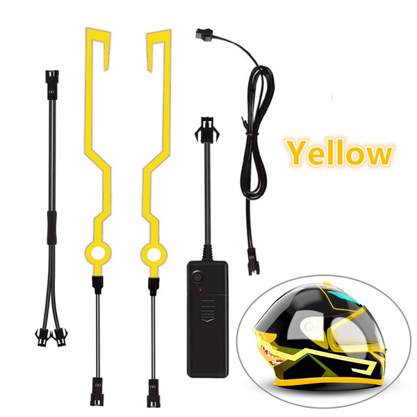 2Pcs/set LED Light for Motorcycle Helmet Night Waterproof Riding Safety Signal Flashing Stripe Bar Sticker Lamp