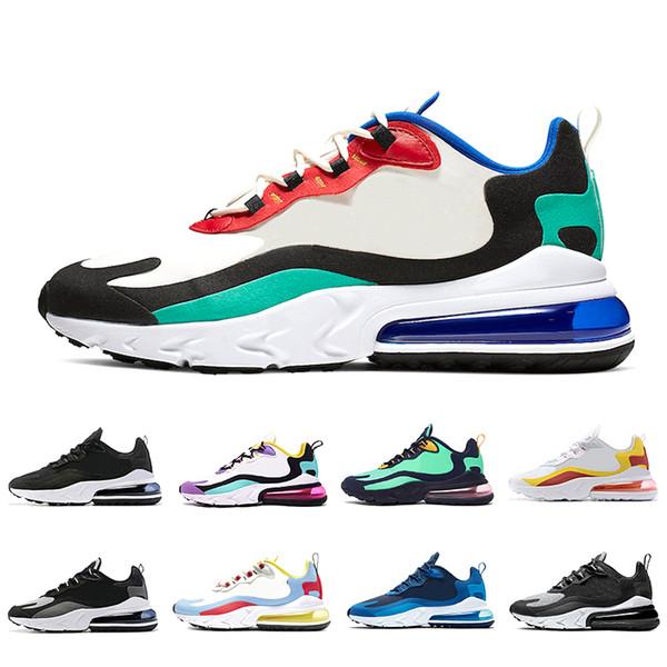 Nike AIR MAX 270 React shoes Sıcak Yumruk Kurt Gri Erkekler kadınlar Üçlü Siyah beyaz Kaplan Koşu Ayakkabıları zeytin Eğitim Spor Erkek Eğitmenler Zapatos Sneaker