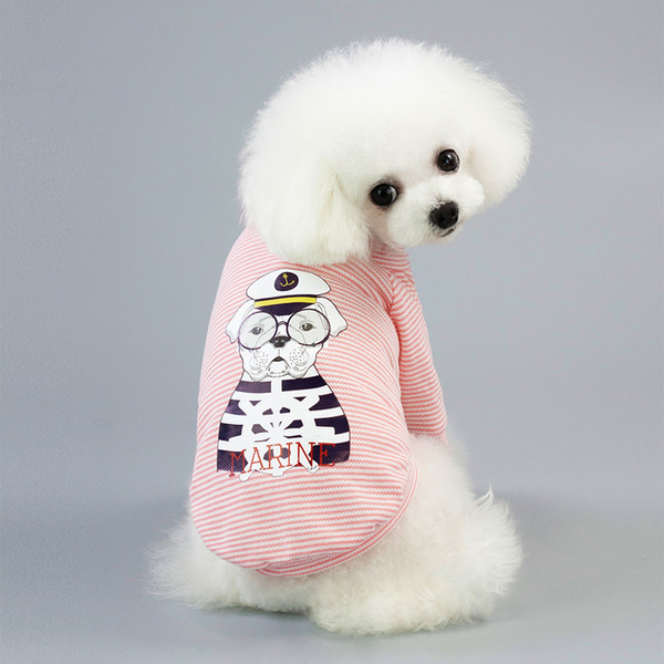 2pcs Pet clothing pet clothes dog clothes pet t-shirt printed animal dog clothing spring and summer cool T-shirt casual T-shirts